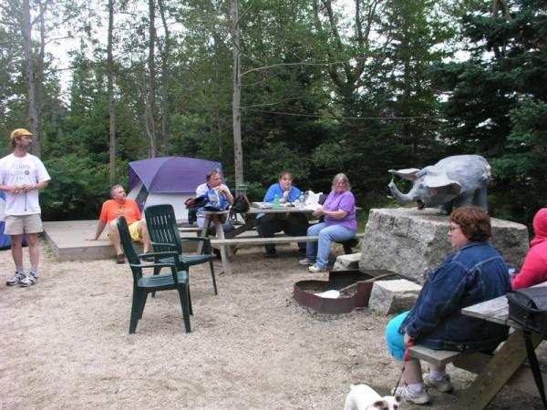 Kayak Kache Event Campsite