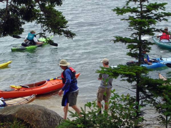 Intrepid Kayakers Embark from Kayak Kache Event 2005