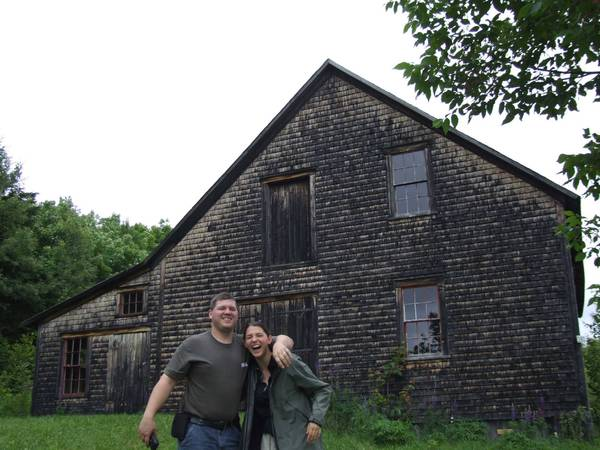 Medawisla and Hiram357 at the Lars/Olm Homestead in New Sweden