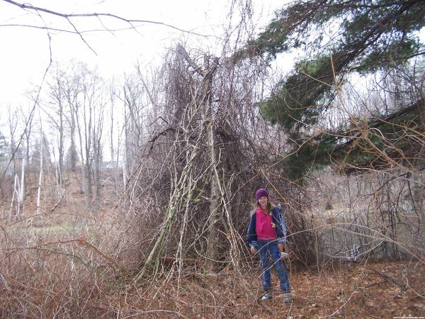 Katlyn Enjoys her trail walk at Oxbow Nature Trail & her Cache find