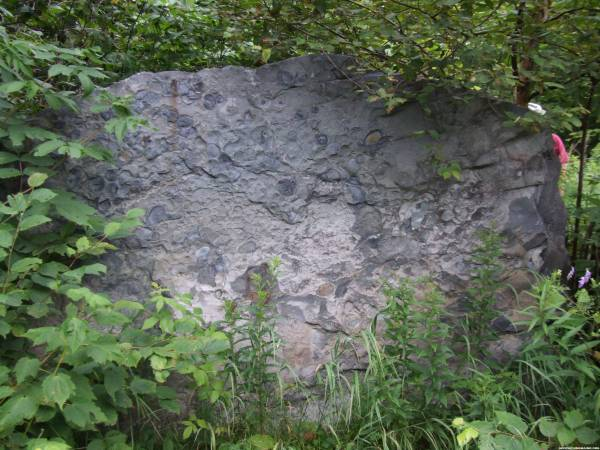 Fossil Rock cache . . . appropriately named