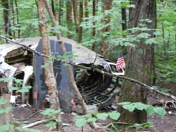 Near the B-52 Crash Cache . . . the actual crash site