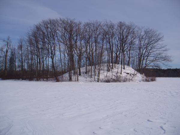 North Island Cache in Winter