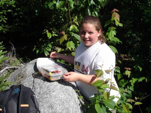 Jen at Cache Site