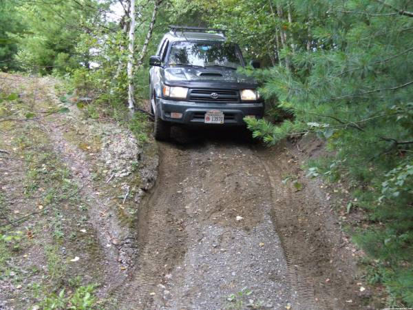 Utilizing the off-road capabilities at VicBiker's Arc de Brook cache . . .