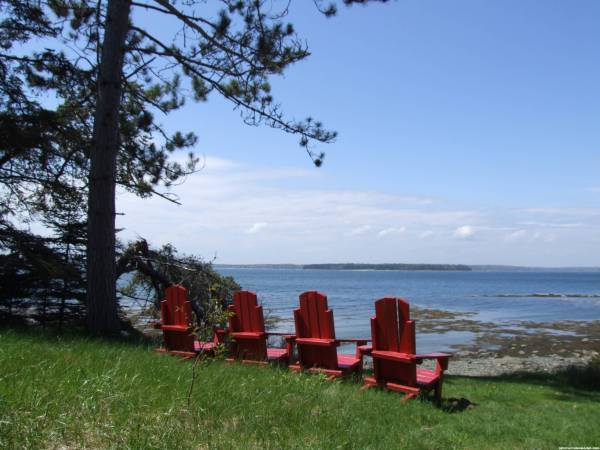 Red chairs at Indian Point