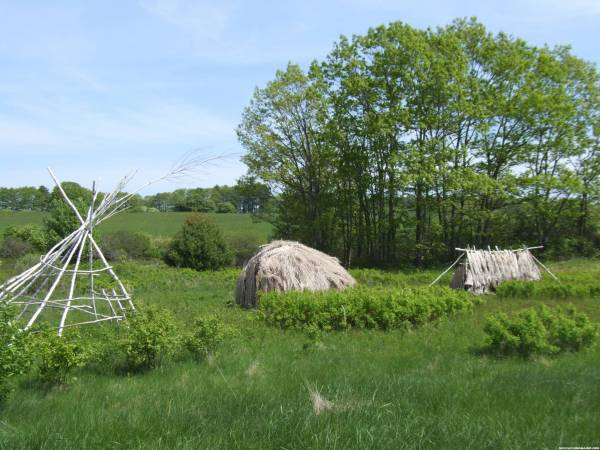 Wabanaki Village recreation at Salt Bay Cache