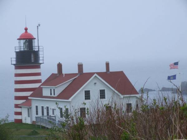 Quick stop at Quoddy Lighthouse after Quoddy Quandry