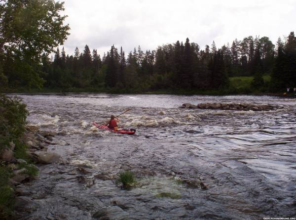 KK in the rapids on the Allagash River