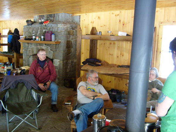 Cabin fever 2010 relaxing after a long hard trek in