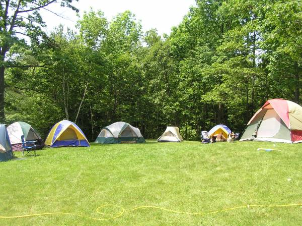 Tent city in  AT Trolls backyard