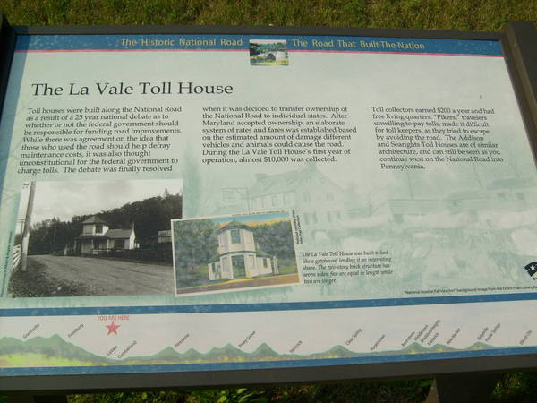 Lavale Toll House plaque Maryland