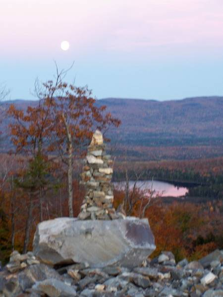 Full Moon Atop Ira Mountain
