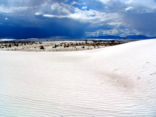 No Snow- White Sand
