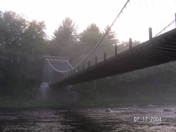 Swinging Bridge at the Really Wired Cache