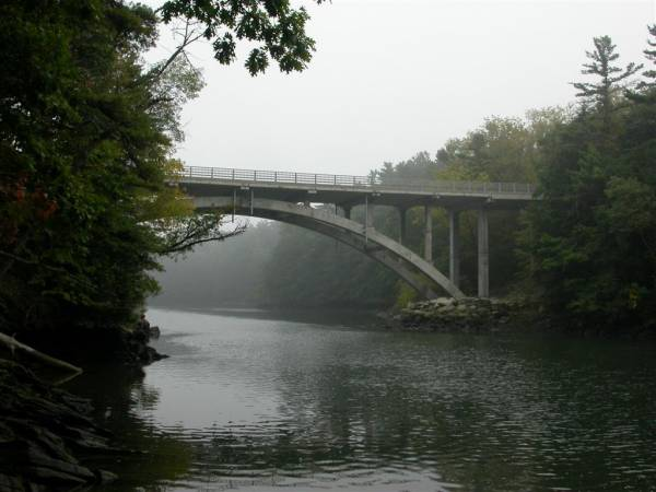 Bridge over Presumpscot River