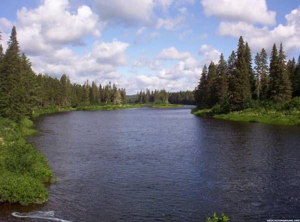 Allagash River-looking upstream from Henderson Bridge