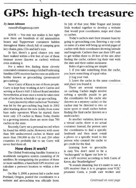 Geocaching Article - Page1