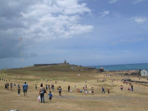 Easter Sunday on the grounds outside El Morro in OSJ