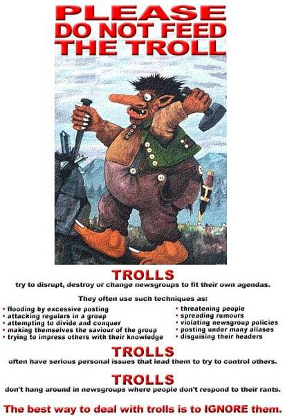 Please do not feed the troll!