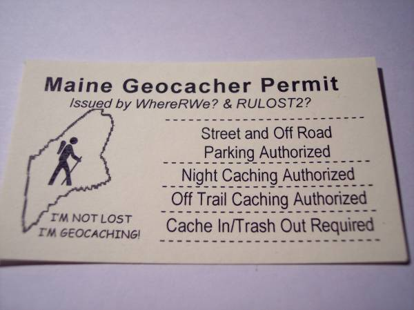Maine Geocacher Permit